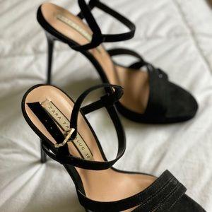 ZARA Black strap high heel sandals